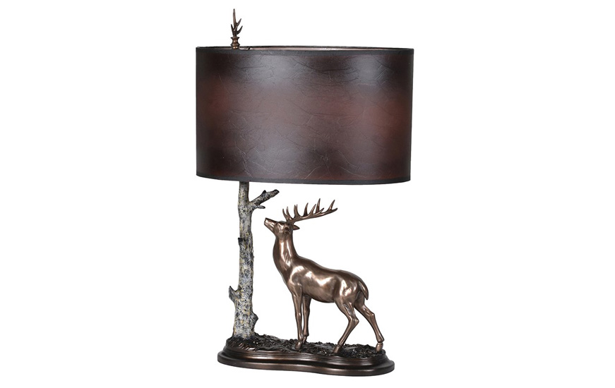 Image of stag & tree table lamp