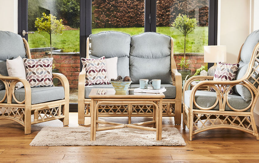 Image of Tenby cane conservatory furniture range