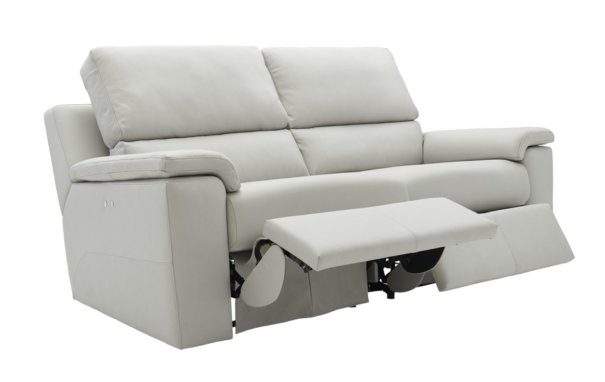 Taylor 3 Seater Leather Recliner Sofa | Goodyear Furniture